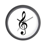 Trad Basic Black Treble Clef Wall Clock