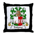 Dubourg Family Crest Throw Pillow