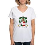 Dubourg Family Crest Women's V-Neck T-Shirt