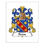 Devos Family Crest Small Poster