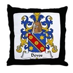 Devos Family Crest Throw Pillow