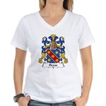 Devos Family Crest Women's V-Neck T-Shirt