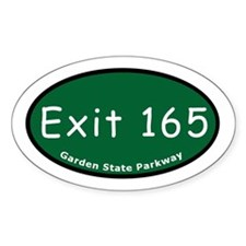 Exit 165 - East Ridgewood Av Oval Decal