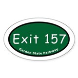 Exit 157 - US 46 / NJ 20 - G Oval Decal