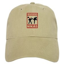 Warning: Ninjas Baseball Cap