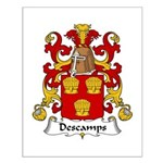 Descamps Family Crest  Small Poster