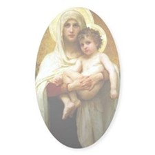 Mary, Mother of God Oval Decal