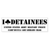 I Club Detainees Bumper Bumper Sticker