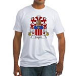 Cusson Family Crest  Fitted T-Shirt