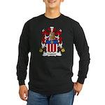 Cusson Family Crest Long Sleeve Dark T-Shirt