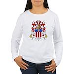 Cusson Family Crest  Women's Long Sleeve T-Shirt