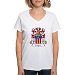 Cusson Family Crest  Women's V-Neck T-Shirt