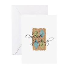 Celebrate Juneteenth - Black Greeting Card