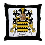 Cosse Family Crest Throw Pillow