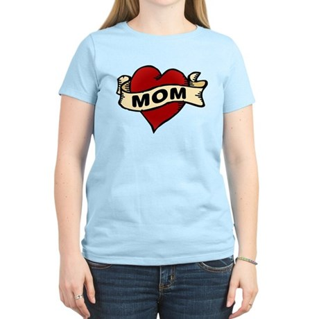 Mom heart tattoo Women's Light T-Shirt