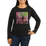 Flowers Women's Long Sleeve Dark T-Shirt