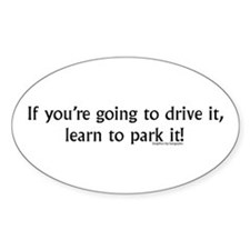 Learn to park Oval Decal