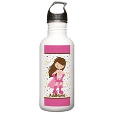 Pink Girl Superhero Pe Water Bottle
