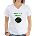 abduction t-shirts Women's V-Neck T-Shirt
