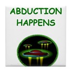 abduction t-shirts Tile Coaster