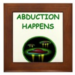 abduction t-shirts Framed Tile