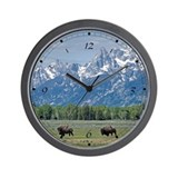 Teton Buffalo Wall Clock