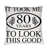 80th Throw Pillows