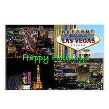 Las Vegas Happy Holidays Scenic Postcards 8