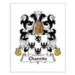 Charette Family Crest Small Poster