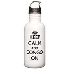 Keep calm and Congo ON Water Bottle