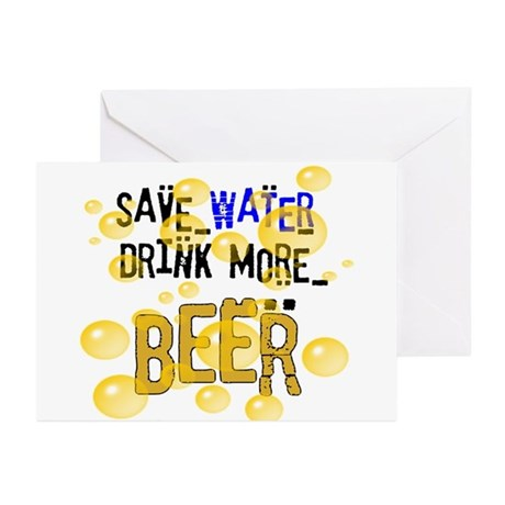 Save Water Drink Beer Greeting Cards (Pk of 20)