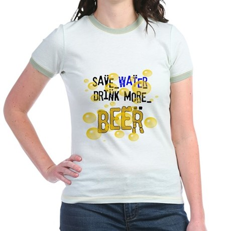 Save Water Drink Beer Jr. Ringer T-Shirt