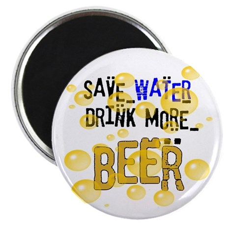 "Save Water Drink Beer 2.25"" Magnet (10 pack)"