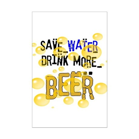 Save Water Drink Beer Mini Poster Print