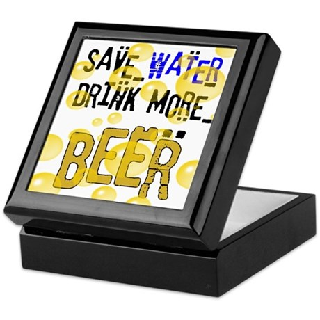 Save Water Drink Beer Keepsake Box