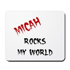 Micah Rocks My World Mousepad