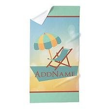 Summer Beach Umbrella Personalized Beach Towel