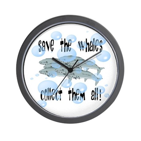 Save the Whales - Collect Them All! Wall Clock