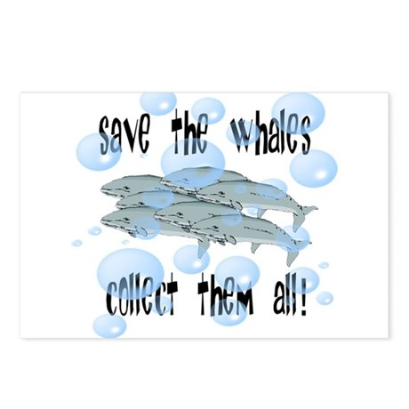 Save the Whales - Collect Them All! Postcards (Pac