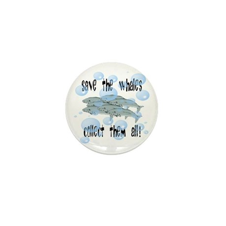 Save the Whales - Collect Them All! Mini Button (1