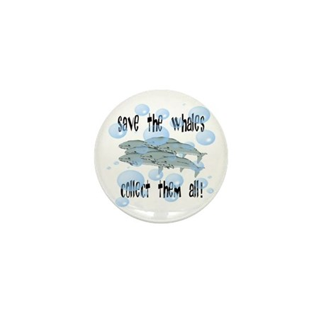Save the Whales - Collect Them All! Mini Button