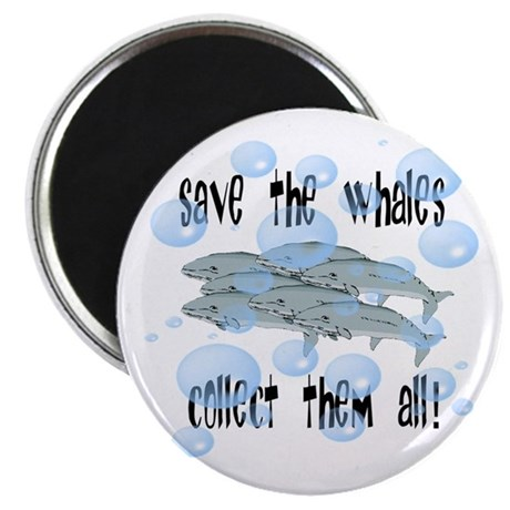Save the Whales - Collect Them All! 2.25&quot; Magnet (