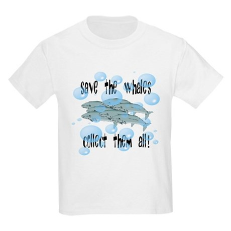 Save the Whales - Collect Them All! Kids Light T-S