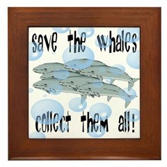 Save the Whales - Collect Them All! Framed Tile