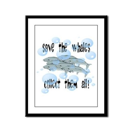 Save the Whales - Collect Them All! Framed Panel P