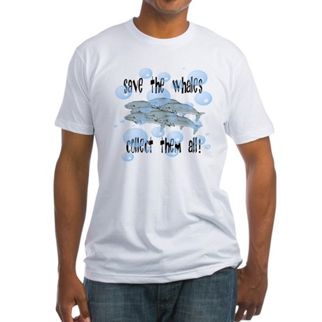 Save the Whales - Collect Them All! Fitted T-Shirt
