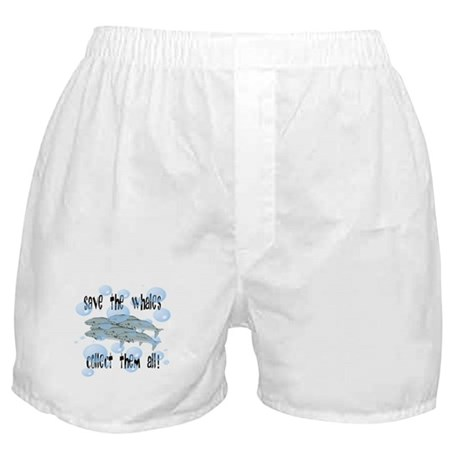 Save the Whales - Collect Them All! Boxer Shorts