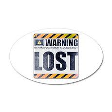Warning: LOST 38.5 x 24.5 Oval Wall Peel