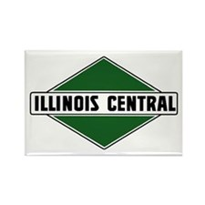 Illinois Central Rectangle Magnet