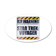 Warning: Star Trek: Voyager 38.5 x 24.5 Oval Wall